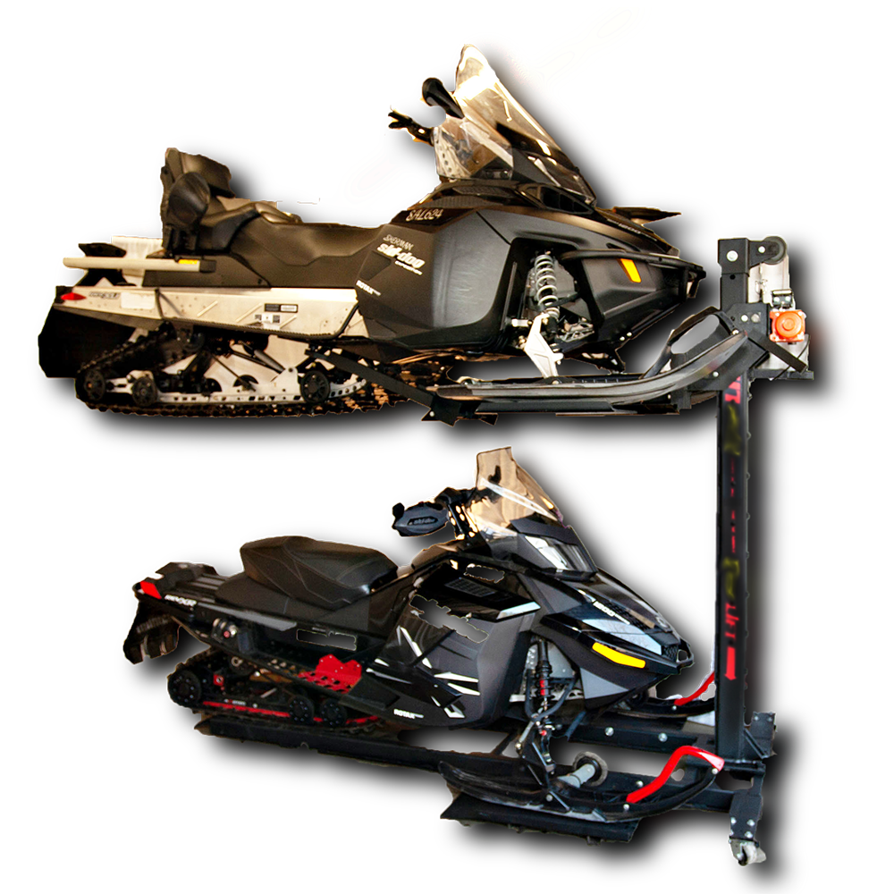 Snowmobile storage lift