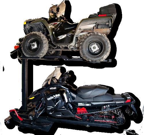 snowmobile storage lift