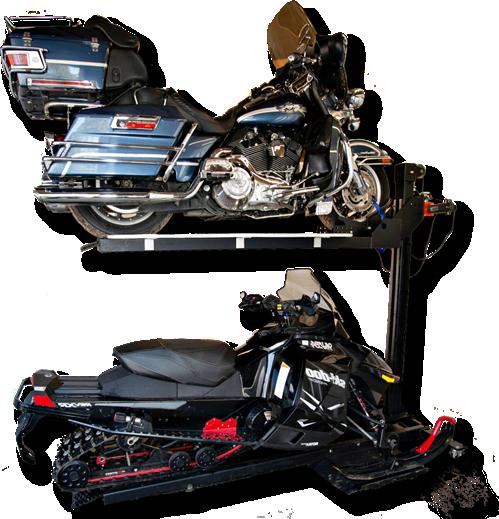 motorcycle storage lift